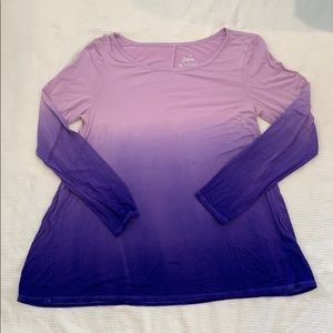 Other - 🖐🏻JUSTICE Purple Ombré Long Sleeve Tunic